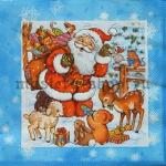 Салфетка Дед Мороз и зверята