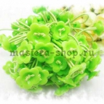 Резинка для волос с основой-цветком. Зеленая