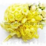 Резинка для волос с основой-цветком. Желтая