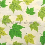 Салфетка Зеленые кленовые листья