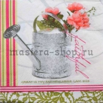 Салфетка Лейка с цветами