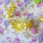 Внутренние лепестки хризантемы желтые