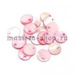Перламутровая подвеска Диск розовый