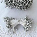 Тычинки средние серебряные (2-3 мм)