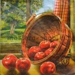 Салфетка Кадушка с яблоками