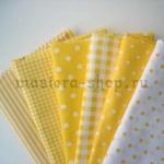 Набор тканей для пэчворка и рукоделия Солнечные - 7 отрезов