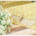 Ткань для печворка и рукоделия Мелкие цветочки. Желтая