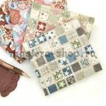 Ткань для печворка и рукоделия Звезды в квадратиках