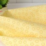 Ткань для печворка и рукоделия Желтые цветочки