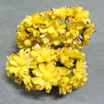 Бумажные цветочки. Мини цветочки. Желтые 3,5 см