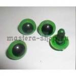 Глаза винтовые зеленые 10 мм (пара)