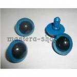 Глаза винтовые синие 12 мм (пара)