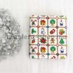 Ткань из коллекции Новогодняя: Красная клетка