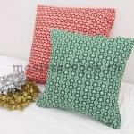 Ткань из коллекции Новогодняя: Снегопад зеленая