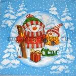 Салфетка Снеговик и снеговичок