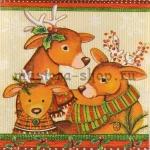 Салфетка Новогодние олени