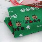 Ткань из коллекции Рождество в кружочках: Печеньки. Зеленая