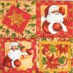 Салфетка Дед мороз в квадратиках