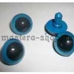 Глаза винтовые синие 16 мм (пара)