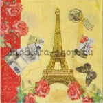 Салфетка Открытки из Парижа
