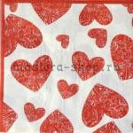 Салфетка Сердца с завитками