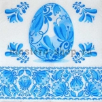 Салфетка Пасхальное яйцо Гжель