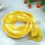 Капрон для цветов Лимонный темный+Белый