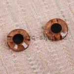 Глаза пришивные прозрачные коричневые 12 мм (пара)