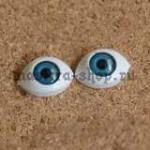 Глаза-рыбки для кукол и игрушек. Акрил Голубые 16.5 мм (пара)