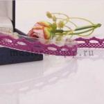 Кружево зубчиками. Фиолетов-розовый. 1,1 см