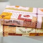 Ткань для печворка и рукоделия Home Sweet розовая