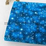 Ткань для печворка и рукоделия Звездное небо синее
