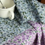 Ткань для печворка и рукоделия Весна голубая