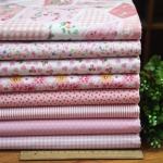 Набор тканей для пэчворка, рукоделия Розовая нежность-8 отрезов