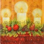 Салфетка Свечи на камине