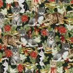 Ткань для печворка и рукоделия: Новогодние коты