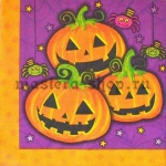 Салфетка Три тыквы Хэллоуин
