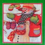 Салфетка Снеговики в красном
