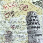 Салфетка Страны: Италия. Пизанская башня
