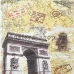 Салфетка Страны: Франция. Триумфальная арка