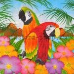 Салфетка Два попугая