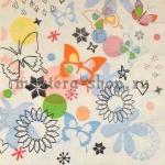Салфетка Мелкие бабочки и цветочки