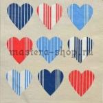 Салфетка Полосатые сердечки