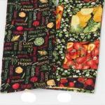 Ткань для печворка и рукоделия Фрукты - квадраты