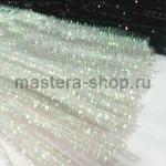 Блестящая проволока шенил (синель) Белая