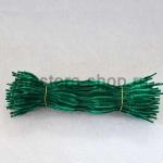 Неравномерная проволока шенил (синель) Темно-зеленая