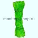 Неравномерная проволока шенил (синель) Зеленая