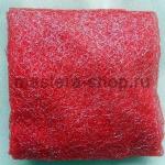 Ажурный капрон для цветов Красный с серебром