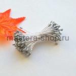 Тычинки средние с блеском Серебряные (1,5-2 мм)