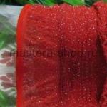 Капрон для цветов Красный с серебром